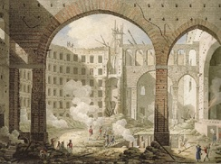 Teatro San Carlo, Naples after the 13 Feb 1816 fire