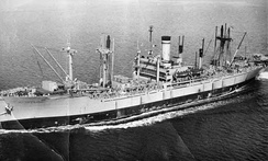USS Private Joe P. Martinez transported the 2PPCLI to the Korean theatre of operations in 1950