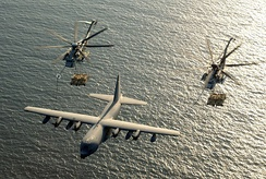 USMC KC-130 and CH-53Es over the Gulf of Aden, 2003