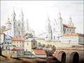 Униатская церковь и костёл Св. Антония, рисунок Н. Орды