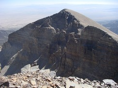 The quartzite of Jeff Davis Peak in Great Basin National Park