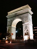 The north face of the Washington Square Arch
