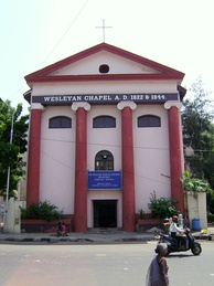The CSI English Wesley Church in Broadway, Chennai, India, is one of the oldest Methodist chapels in India.