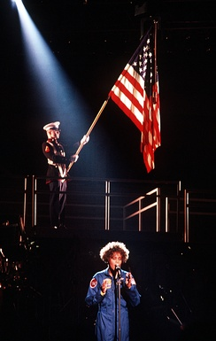 "Houston opening the Welcome Home Heroes concert with ""The Star Spangled Banner"" on March 31, 1991."