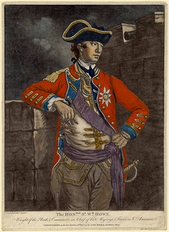 Mezzotint artist rendition of General Howe, by Charles Corbutt, ca. 1777