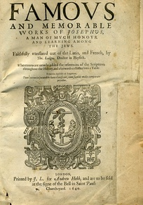 A 1640 edition of the Works of Josephus
