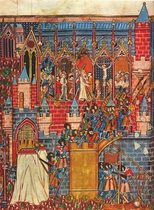 The Siege of Jerusalem as depicted in a medieval manuscript
