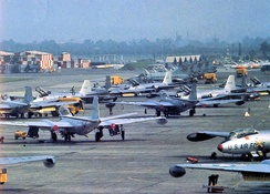 B-57Bs on the flightline at Johnson AB, about 1957