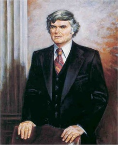 Portrait of Ullman as chair of the House Ways and Means Committee.