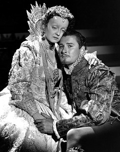 Bette Davis and Errol Flynn in Warner Bros.' The Private Lives of Elizabeth and Essex