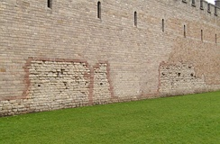 Front wall of Cardiff Castlepart of the original Roman fort