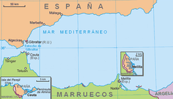 Morocco claims sovereignty over Spanish enclaves of Ceuta and Melilla.