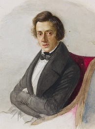 Chopin, a Romantic composer of piano works, including many inspired by Polish traditional dance music