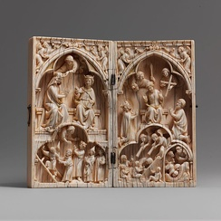 Diptych with the Coronation of the Virgin and the Last Judgment, Metropolitan Museum of Art