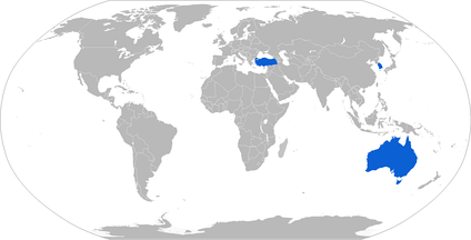 Map with E-7A operators in blue