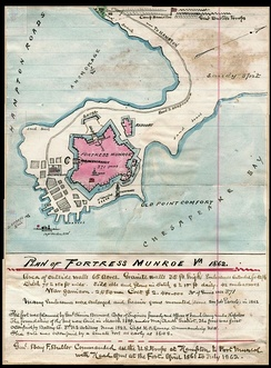 Map of Fort Monroe, 1862