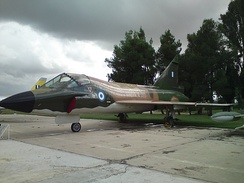A Hellenic Air Force TF-102A Delta Dagger at the Hellenic Air Force Museum, at Dekeleia AFB.