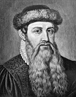 Johannes Gutenberg (c. 1398–1468), pioneering user of the printing press with movable types