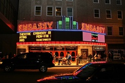 The Embassy Theatre opened in 1928 as a movie palace.