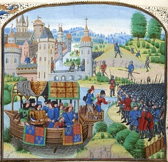 Richard II meets the rebels calling for economic and political reform during the Peasants' Revolt of 1381