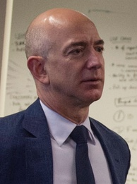 American internet entrepreneur who is the founder of company Amazon, Jeff Bezos, who as of April 2020 is ranked the wealthiest person in the world.