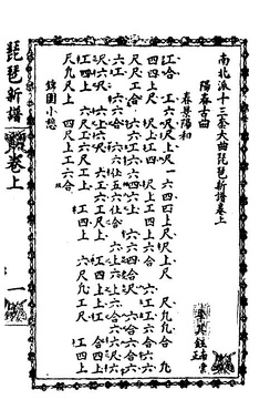 A page of music notation from the Li Collection by Li Fangyuan.