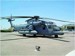 MH-53J Pave Low on display at Kirtland AFB. This aircraft holds a distinctive place in the Air Force's history, having served as the prototype for the Pave Low III program.