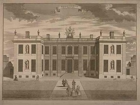 In its original form Marlborough House had just two storeys. This illustration of c.1750 shows the garden front.