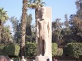 Statue of Rameses II in the open-air museum.