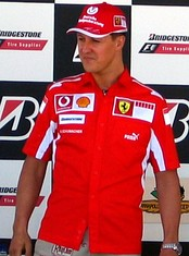 Michael Schumacher won his second title in a row with Ferrari, his fourth overall.
