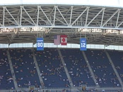 Banners of Largent and the 12th Man hang over CenturyLink Field.