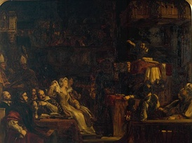 Preaching of Knox before the Lords of the Congregation (in the Parish Church of St. Andrew's, 10 June 1559) by David Wilkie[61]