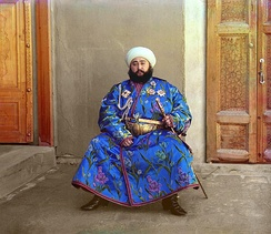 Alim Khan photographed by Sergey Prokudin-Gorsky using Maxwell's method, 1911