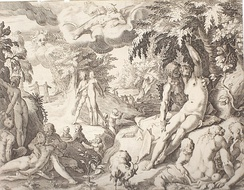 Robert Willemsz de Baudous: Golden Age, etching, cca 1598.