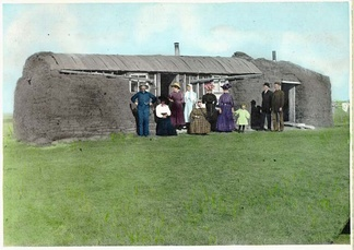 Early sod house