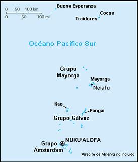 Карта Тонга.