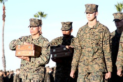 Drill Instructors prior to handing out the Eagle, Globe, and Anchor after completing the crucible.