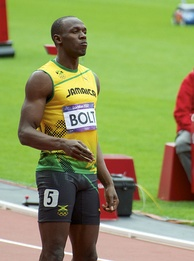 Usain Bolt, world record holder in 100 m and 200 m sprints