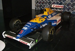 Nigel Mansell's Williams FW14B used for the 1992 season when he won the Drivers' Championship and the team won the Constructors' Championship
