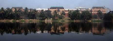 Writers' Building from across Lal Dighi in B.B.D. Bagh