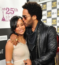 Lenny Kravitz with daughter Zoe Kravitz at the 25th Spirit Awards in March 2010