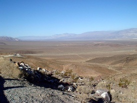 "Panamint Valley, looking north from ""Slate Range Crossing"", a pass that connects Panamint and Searles valleys."
