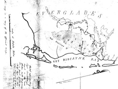 "This map made by the U.S. military shows the term ""Everglades"" was in use by 1857."