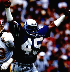 Hall of Fame safety Kenny Easley, a defensive unit leader for Seattle in the 1980s,[24] was a top defensive player in the NFL[25] and one of the Seahawks' all-time greatest players.[26]