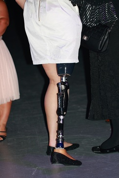 A prosthetic leg worn by Ellie Cole