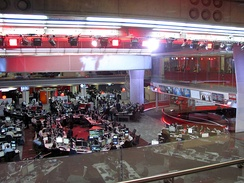 The new newsroom in Broadcasting House, central London, officially opened by the Queen in 2013