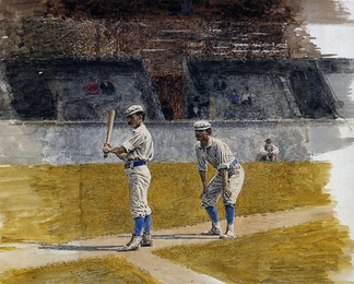 Baseball Players Practicing, by Thomas Eakins (1875)