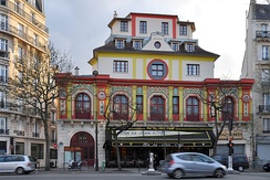 Sting performed at the re-opening of the Bataclan theatre (exterior pictured) on 12 November 2016, a year after the terrorist attack at the venue.[96]