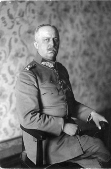 Erich Ludendorff, Hindenburg's chief of staff on the Eastern Front and partner throughout the war.