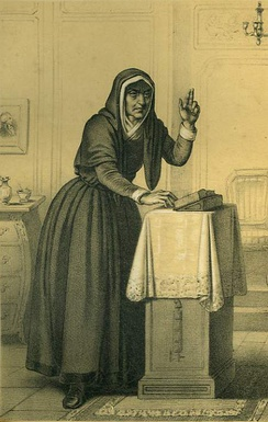Catherine Théot depicted in the 18th century.
